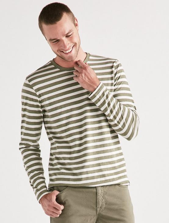 LONGSLEEVE STRIPE CREW NECK, MULTI, productTileDesktop