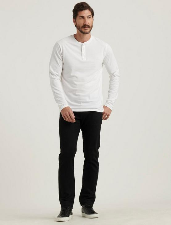 VENICE BURNOUT BUTTON HENLEY, BRIGHT WHITE, productTileDesktop