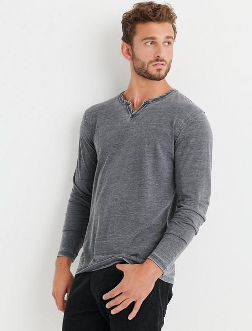 VENICE BURNOUT NOTCH RINGER TEE,