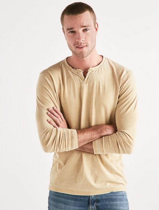 VENICE BURNOUT NOTCH RINGER TEE, DUSTY GOLD, productTileDesktop