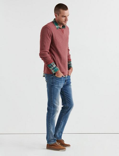 STRONG BOY FLECK THERMAL CREW, 636 RED