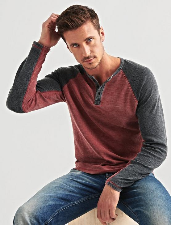 VENICE BURNOUT RAGLAN THERMAL, FIRE BRICK, productTileDesktop