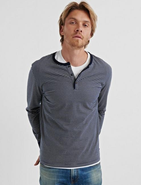 Lucky Yd Striped Jersey Henley