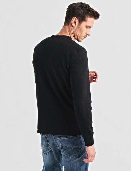 NOTCHED WOOL BOMBER, #001 BLACK