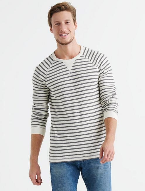 Lucky Striped Thermal Crew