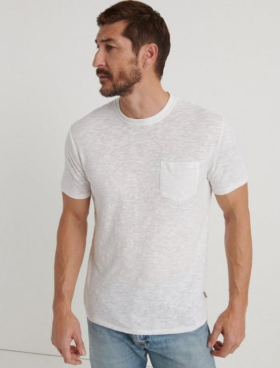 LINEN ONE POCKET TEE, BRIGHT WHITE, productTileDesktop