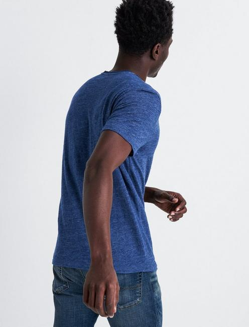 LINEN ONE POCKET TEE, ESTATE BLUE