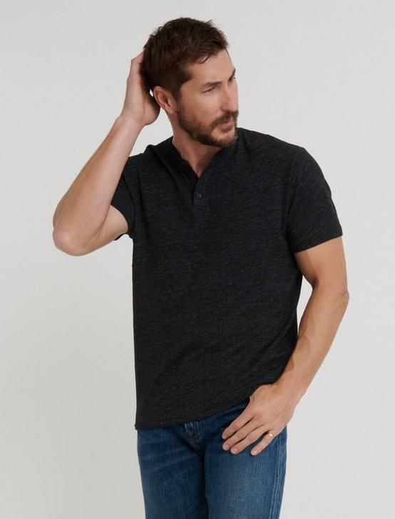 LINEN HENLEY, #001 BLACK, productTileDesktop