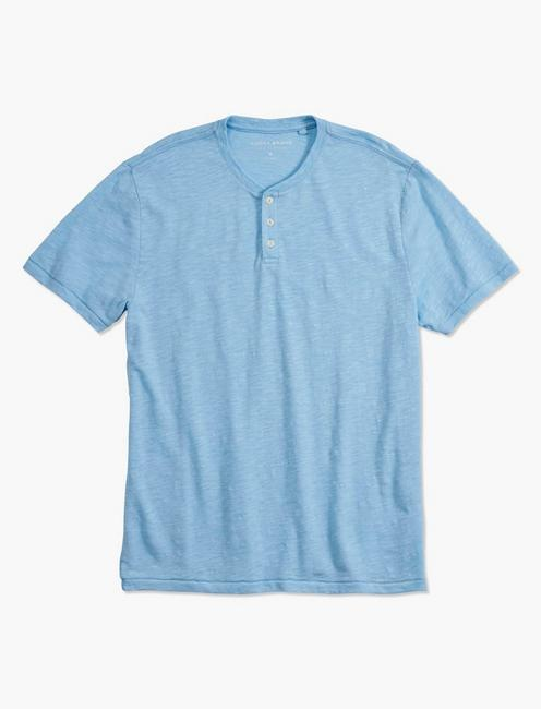 LINEN HENLEY, ESTATE BLUE