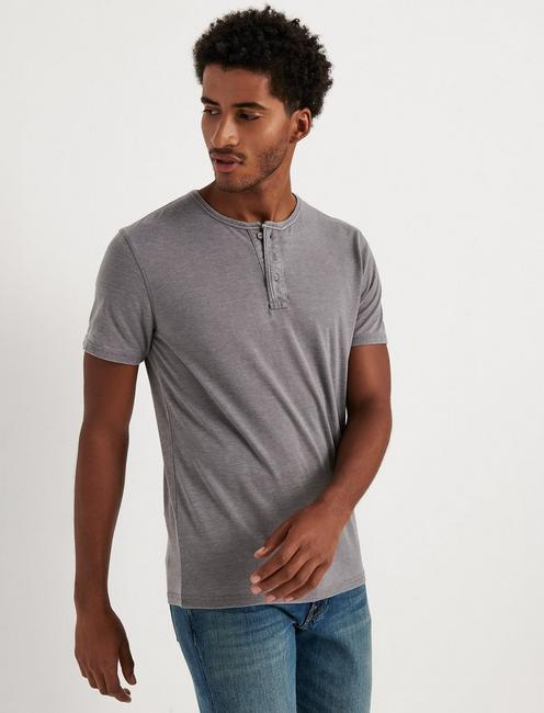 Venice Burnout Henley Shirt, FROST GRAY