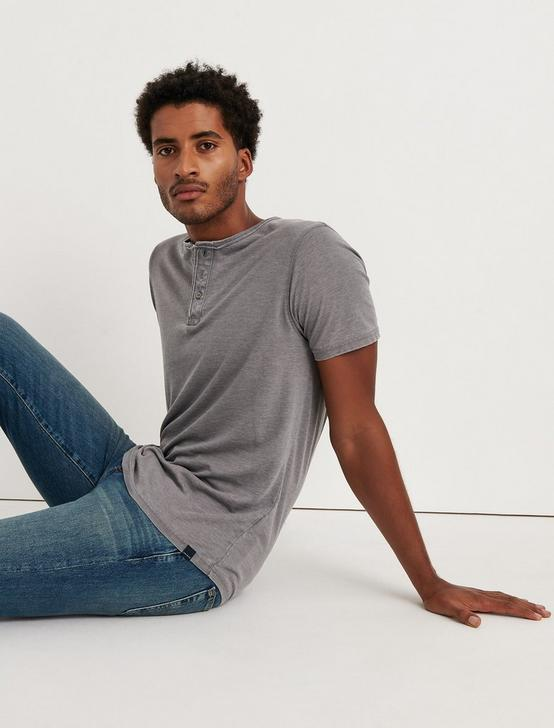 Venice Burnout Henley Shirt, FROST GRAY, productTileDesktop