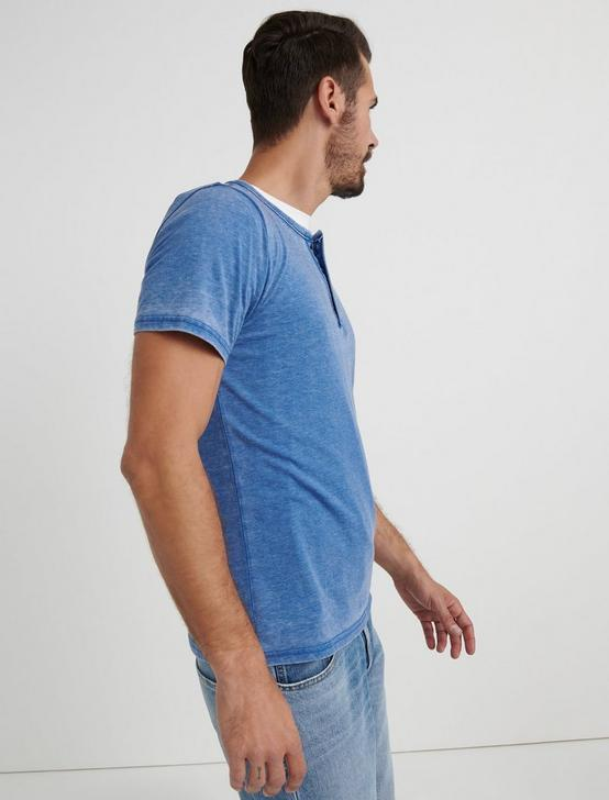 Venice Burnout Henley Shirt, MONACO BLUE, productTileDesktop
