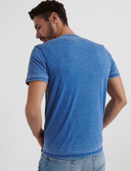 Venice Burnout Henley Shirt, MONACO BLUE