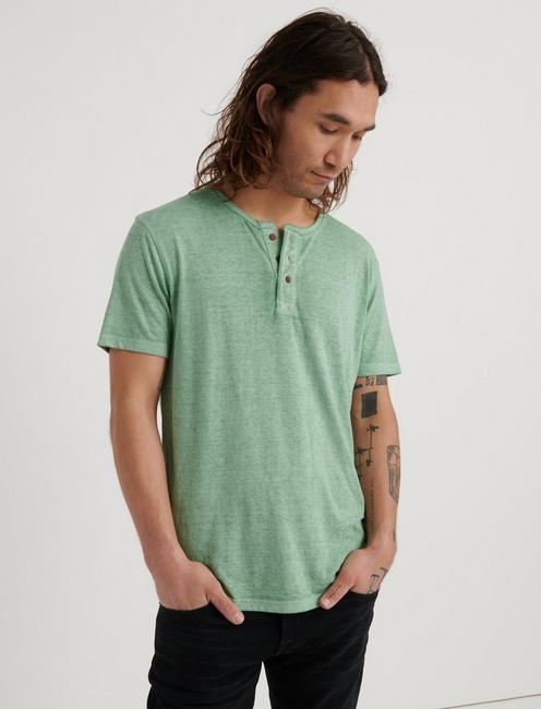 Venice Burnout Henley Shirt, BASIL