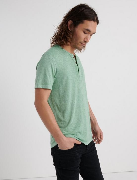 Venice Burnout Henley Shirt, BASIL, productTileDesktop