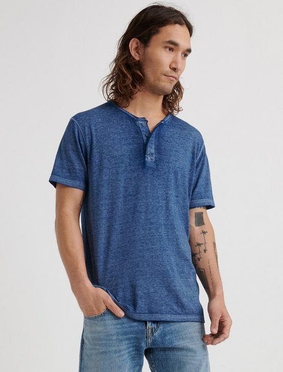 Venice Burnout Henley Shirt, ESTATE BLUE, productTileDesktop