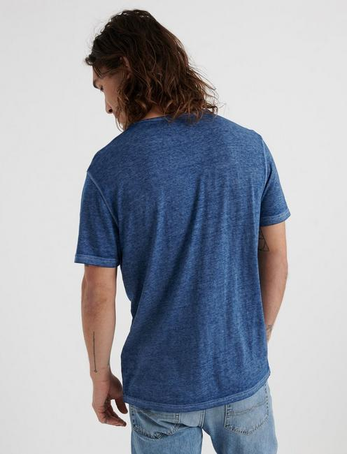 Venice Burnout Henley Shirt, ESTATE BLUE