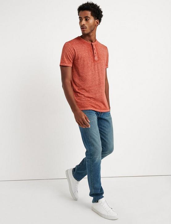 Venice Burnout Henley Shirt, BOSSA NOVA, productTileDesktop