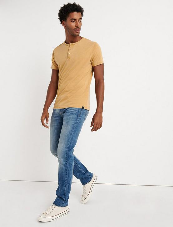 Venice Burnout Henley Shirt, DUSTY GOLD, productTileDesktop