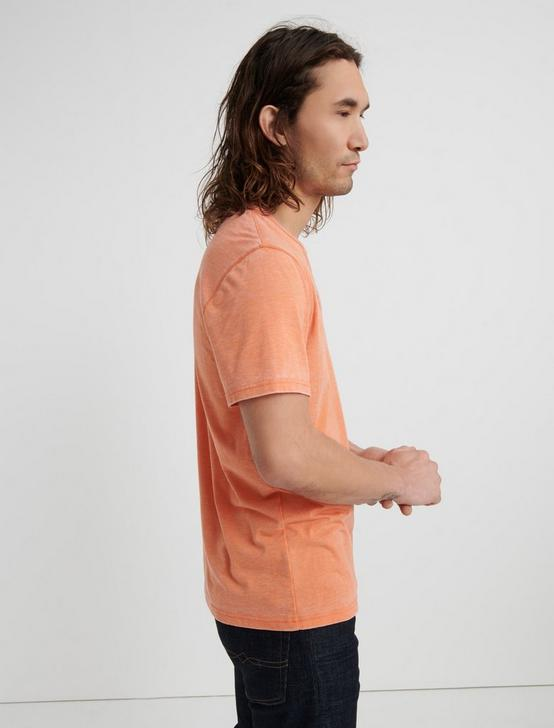 Venice Burnout Henley Shirt, JAFFA ORANGE, productTileDesktop