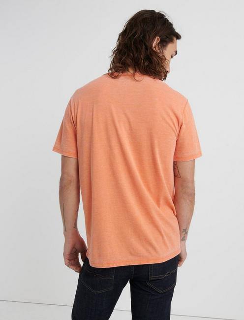 Venice Burnout Henley Shirt, JAFFA ORANGE