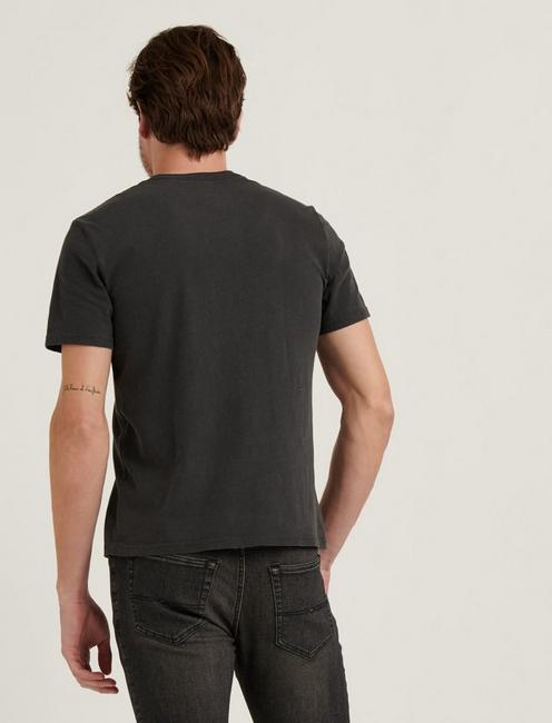 SUNSET POCKET TEE, JET BLACK