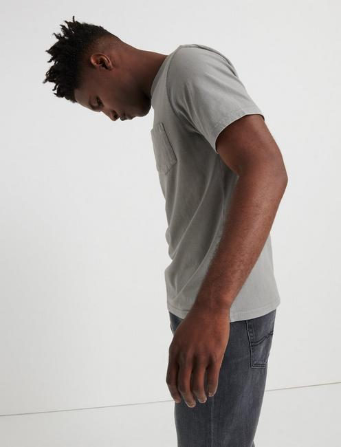 SUNSET POCKET TEE, WILD DOVE