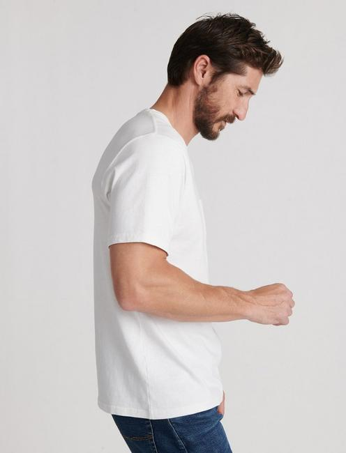 SUNSET POCKET TEE, BRIGHT WHITE