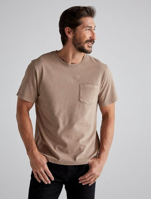 SUNSET POCKET TEE, WALNUT