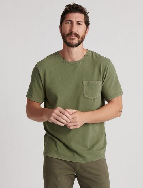 SUNSET POCKET TEE, CYPRESS
