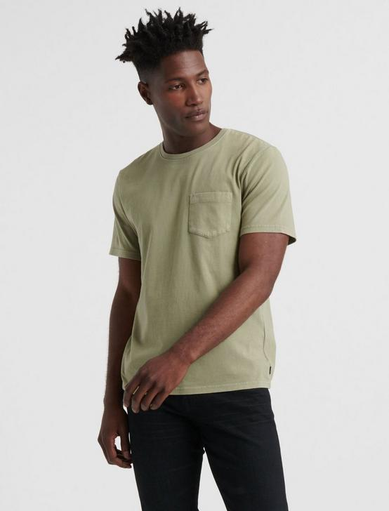 SUNSET POCKET TEE, OLIVINE, productTileDesktop