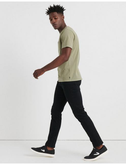 SUNSET POCKET TEE, OLIVINE