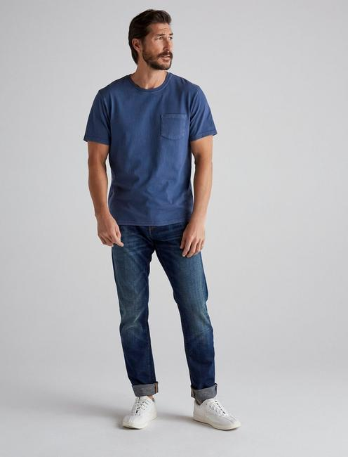 SUNSET POCKET TEE, INSIGNIA BLUE