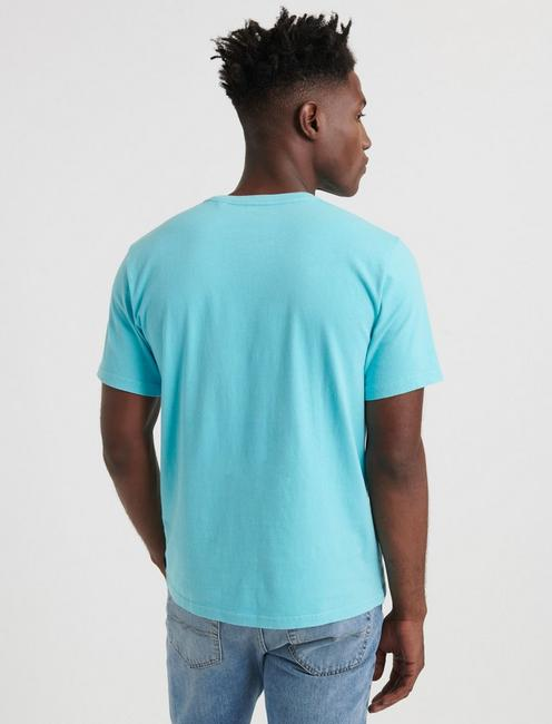 SUNSET POCKET TEE, BLUE GROTTO