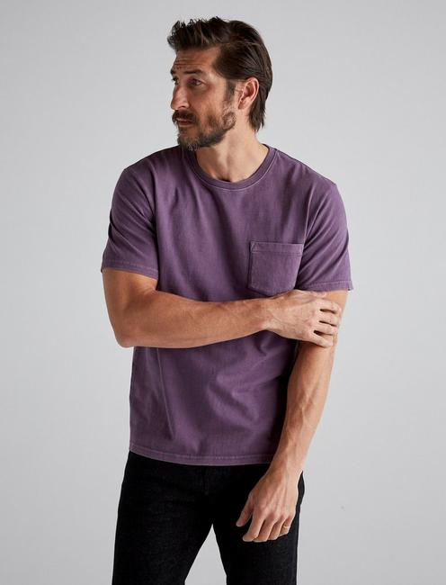 SUNSET POCKET TEE, MAHOGANY