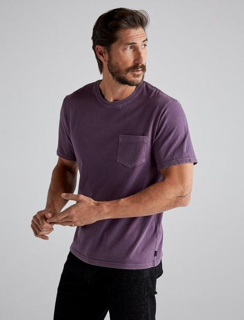 SUNSET POCKET TEE, SWEET GRAPE