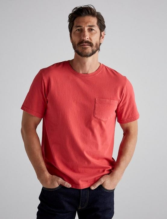 SUNSET POCKET TEE, 636 RED, productTileDesktop