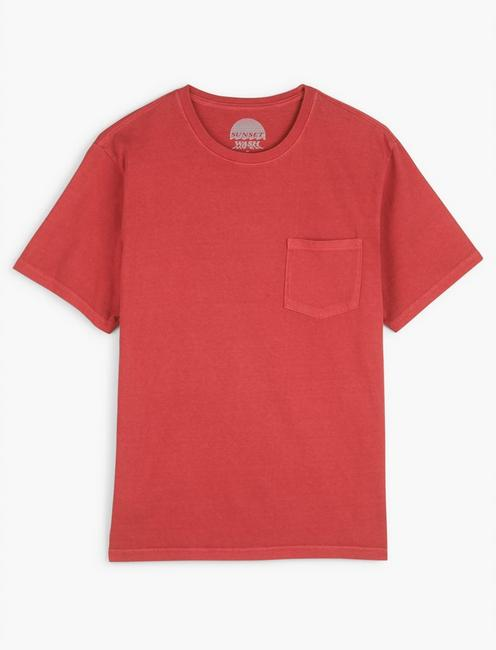 SUNSET POCKET TEE, 636 RED