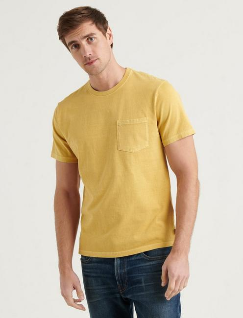 SUNSET POCKET TEE, OCHRE