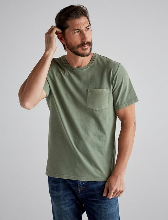 SUNSET POCKET TEE, ELM GREEN, productTileDesktop