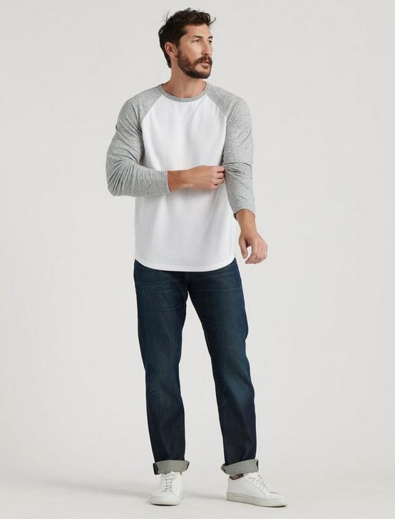 RAGLAN CREW DOUBLE KNIT, WHITE MULTI, productTileDesktop