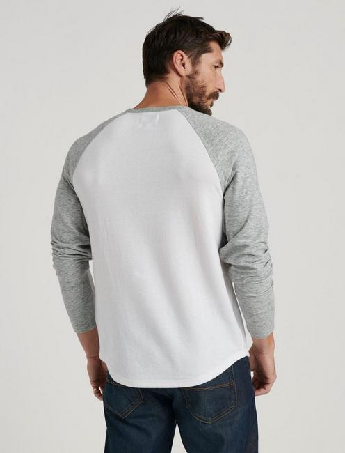 RAGLAN CREW DOUBLE KNIT, WHITE MULTI