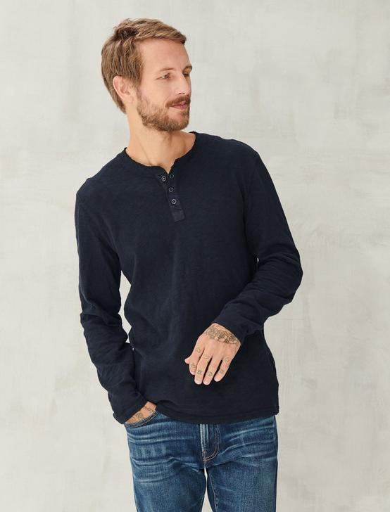 Long Sleeve Snap Henley