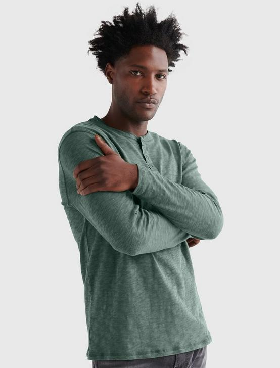 LONG SLEEVE SNAP HENLEY, SEDONA SAGE, productTileDesktop