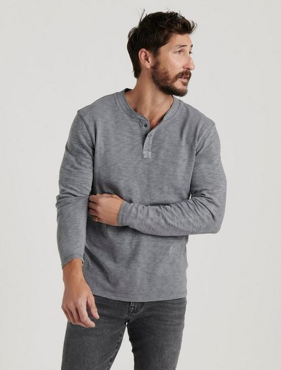 LONG SLEEVE SNAP HENLEY, FROST GREY, productTileDesktop