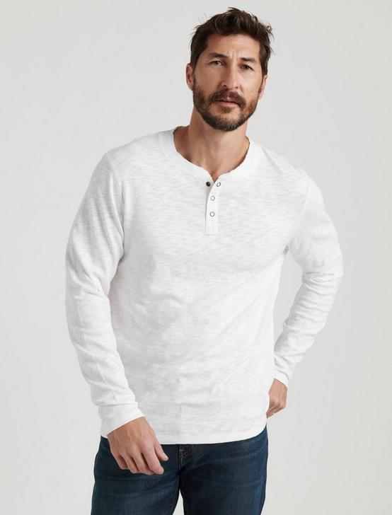 LONG SLEEVE SNAP HENLEY, BRIGHT WHITE, productTileDesktop