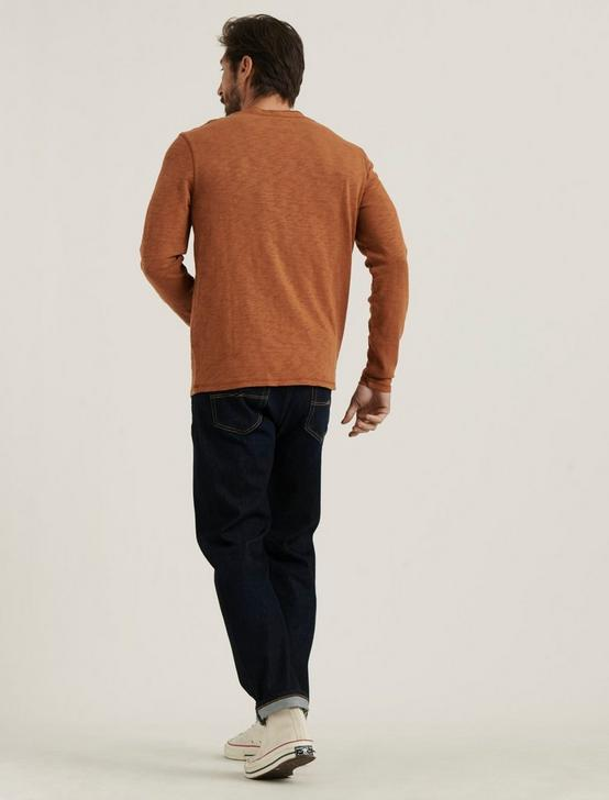 LONG SLEEVE SNAP HENLEY, GOLDEN BROWN, productTileDesktop