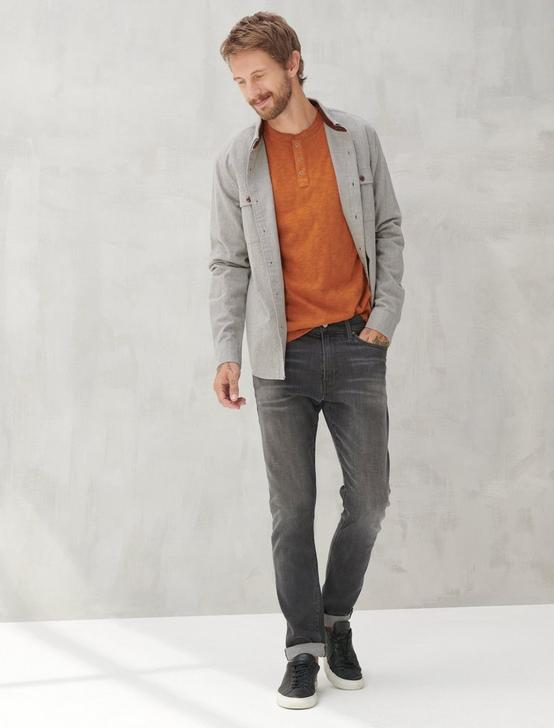 LONG SLEEVE SNAP HENLEY, CARAMEL CAFE, productTileDesktop