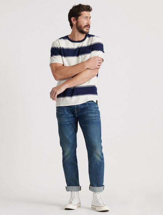 JACQUARD STRIPE POCKET TEE, MULTI, productTileDesktop