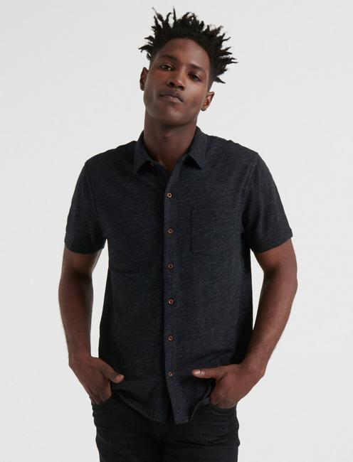 Short Sleeve Washed Button Up